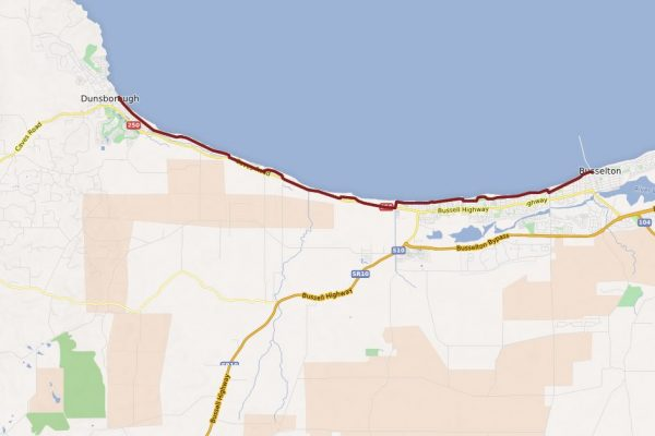 Bay Foreshore Cycling Map