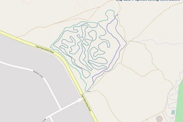 Brown Street Mountain Biking Map