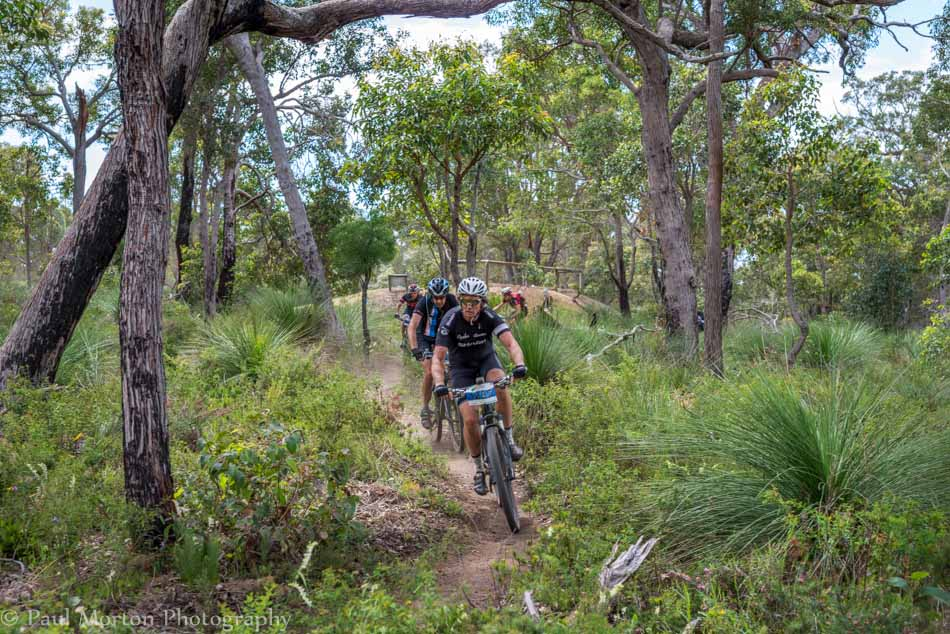 Riders on the Cape to Cape near Dunsborough in Mountain Biking Margaret River