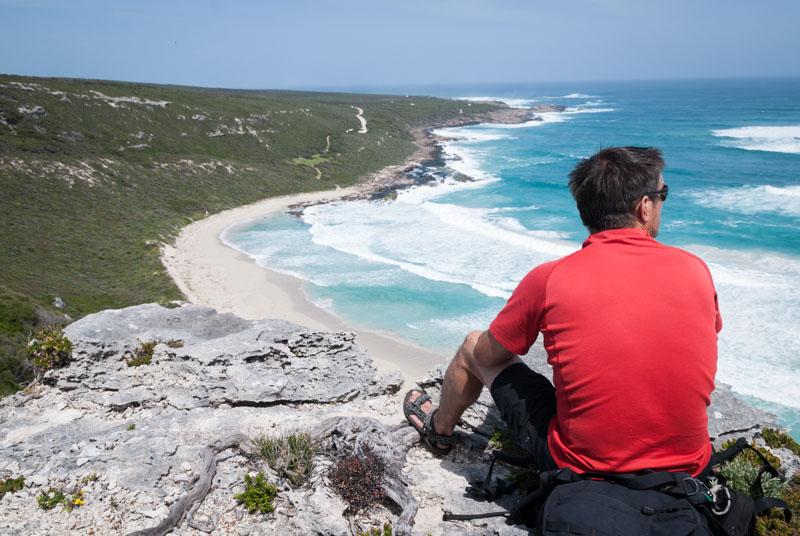 Contos to Bob's Hollow Hike; looking at Contos beach
