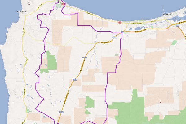 Dunsborough to Cowaramup Cycling Map