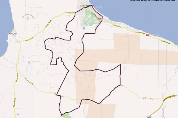 Dunsborough Hills Cycling Map