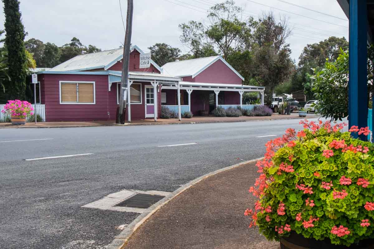 Witchcliffe main street. 5 southern towns in the Margaret River Region
