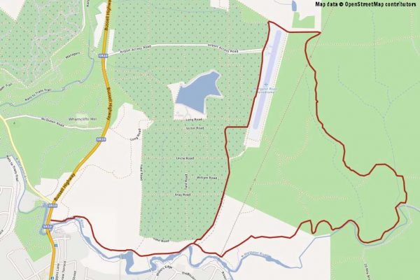 Airport Loop Mountain Biking Map