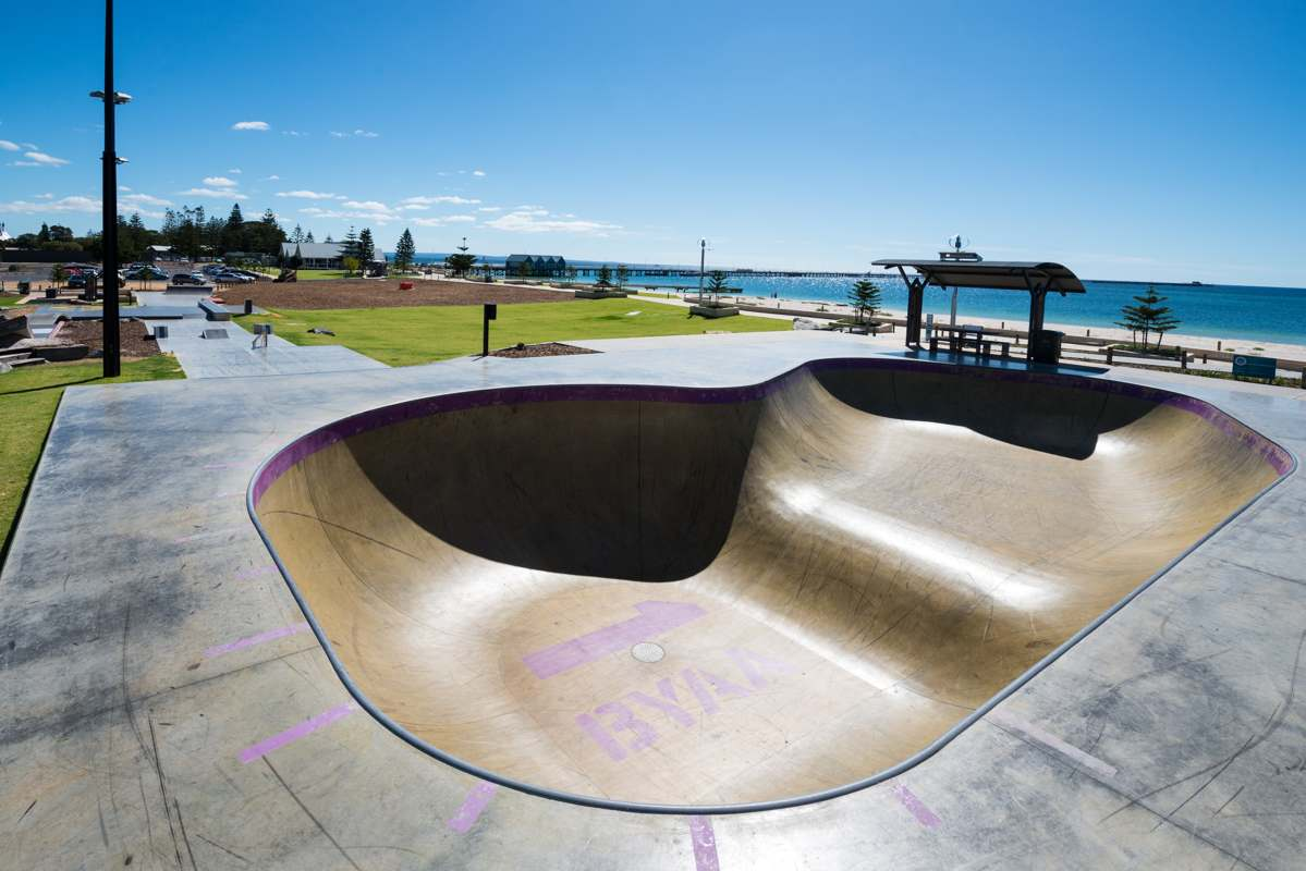 Busselton Skate Park. 5 northern towns in the Margaret River Region