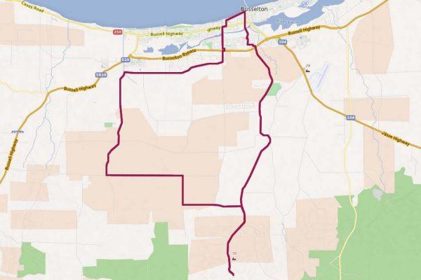 Chapman Hill Cycling Map