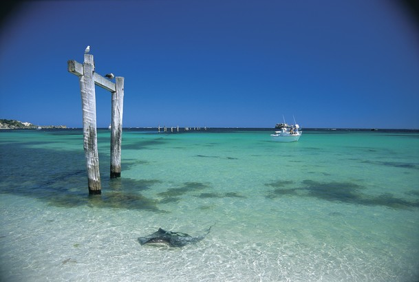 Not much is left of the Hamelin Bay jetty